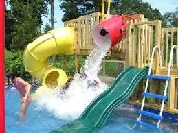 Diy Pool Slide Above Ground Pool Slide Diy Pool Slide Waterfall