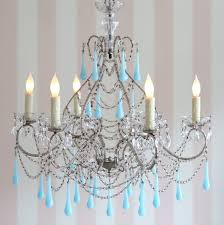 view in gallery shabby chic couture s pirouette chandelier in aqua