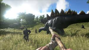 hunt down dinosaurs with crafted weapons in ark survival evolved