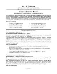 Excellent Ideas Property Manager Resume Examples Property Management