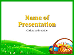 Easter 2019 Powerpoint Template Free Download