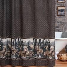 cabin shower curtain decor rustic log curtains hooks