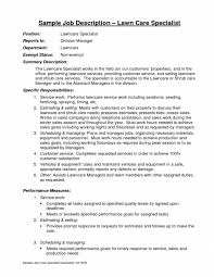 lawn care specialist sample resume professional lawn care