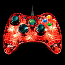 Light Up Xbox One Pdp Microsoft Afterglow Wired Controller For Xbox 360
