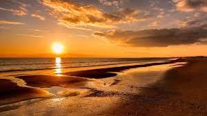 Free Beach Sunset Wallpaper - Novocom.top