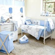 baby bedding sets blue winnie the pooh play crib bedding collection 4 pc crib bedding set