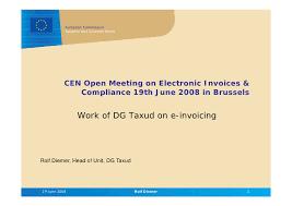 Work Invoices Awesome CEN ISSS Workshop Einvoicing R Diemer[48]