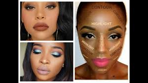 best makeup looks for black women dark skin contouring and highlighting tutorial