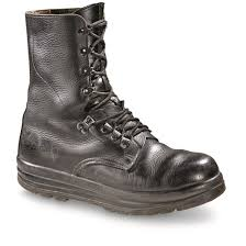 leather combat boots used double tap to zoom