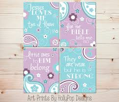 Small Picture Baby girl nursery wall art Nursery art prints Purple aqua nursery