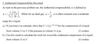 compressibility definition. isothermal compressibility revisited as seen in th definition