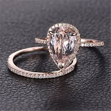 dels about gorgeous 18k rose gold plated white topaz ring wedding woman jewelry size 6 10