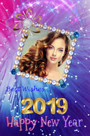 2019 new year photo frames greeting wishes
