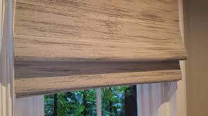 wood roman shades. Custom Woven Wood Roman Shades Installation Boston