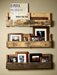 Hanging wall shelves made from wooden pallets in Do-It-Yourself projects