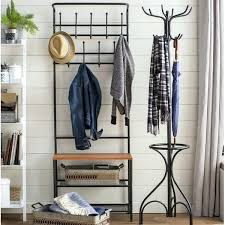 Entry Hall Coat Rack Delectable Storage Hall Tree Entry Hall Tree Coat Rack Storage Bench Seat