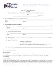 Equipment Contract Template Template Equipment Use Agreement Template 18