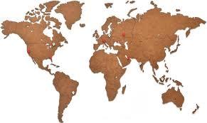 <b>Карта</b> настенная <b>MIMI Wall Decoration</b>, 180х108, коричневый ...