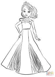 Descendants Coloring Pages Disney Auradon Coronation Audrey Page
