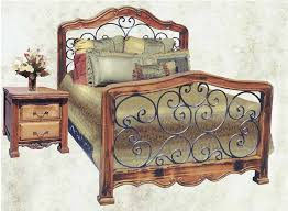 iron bedroom furniture. wrought iron bed and wood 14th cen italy cfbs305 bedroom furniture a