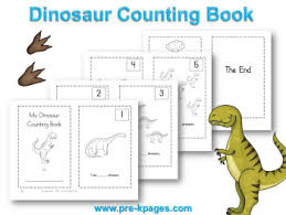 printable dinosaur counting book for pre and kindergarten