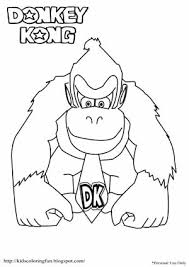 Donkey Kong Coloring Pages Getcoloringpagescom