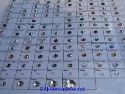 Swarovski Crystal Color Chart Actual Rhinestones Rhinestone Color Chart Card Rhinestone Depot