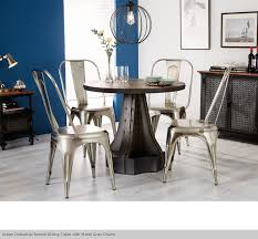 urban industrial vintage style dining table and chairs metal