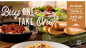 smasher s deal olive garden one take one