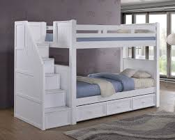 bunk beds with storage. Fine Bunk Dillon White Twin Bunk Bed With Storage Stairs  DILLON Over   On Beds With W