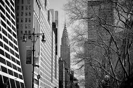 chrysler building black and white wallpaper. chrysler building from 42nd street black and white wallpaper