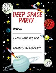 Space Party Invitation Printable Party Invitations Childrens Deep Space Party