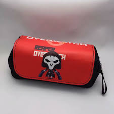 Purse Design Games Us 6 64 5 Off Fashion Games Design Overwatch Ow Pencil Bags Pu Leather Canvas Students Stationery Pen Holder Purse Boys Girls Cosmetic Cases In