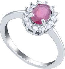 Серебряное кольцо <b>Silver Wings</b> 21KNYS217-155 с рубином ...