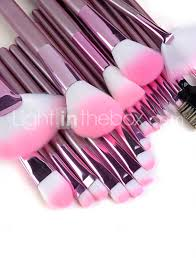 22pcs makeup brushes set professional pink handle powder concealer blush brush shadow eyeliner