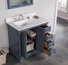 36 bathroom vanity grey. Sebastian 36\ 36 Bathroom Vanity Grey