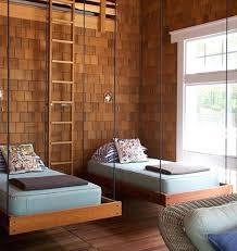 hanging bed wooden interior design nestles two hanging beds hanging bedside  table diy . hanging bed ...