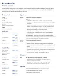 sample personal assistant resume personal assistant resume sample writing guide 20 examples