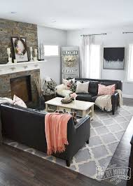 black furniture decor. Black, White And Blush Pink Valentine\u0027s Day Living Room Decor Ideas Black Furniture E