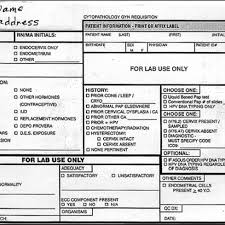 Revised Pap Test Requisition Slip Multiple Additions