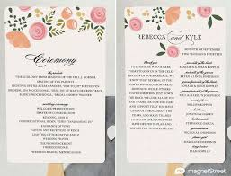 modern wedding program wording templates magnetstreet