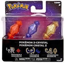 Pokemon Pokemon Z-Ring Solganium Z, Lunalium Z Kommonium Z Crystal 3-Pack  Tomy - ToyWiz