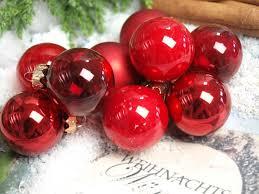 45 Weihnachtskugeln Christbaumkugeln Rot Christbaumschmuck