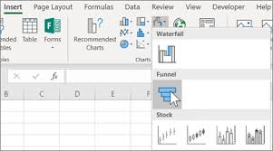 How To Create A Funnel Chart Create A Funnel Chart Office Support