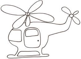 Elicottero Da Colorare Per Bambini Cose Per Crescere