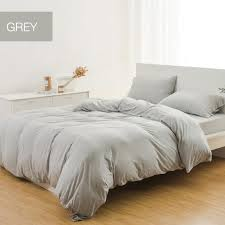 xiaomi 3pcs simple skin care soft india cotton fiber knit fabric bedding sets with dual pillowslips