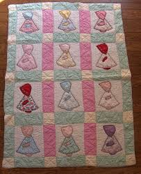 95 best Sunbonnet Sue Quilts images on Pinterest | Heart, Quilt ... & Vintage Quilt Patterns | PDF baby quilt PATTERN vintage 1930s reproduction  by NauvooQuiltCo Adamdwight.com