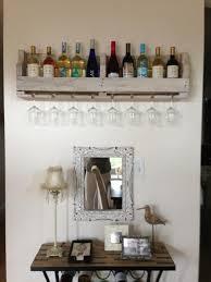 rustic wall mounted wine racks