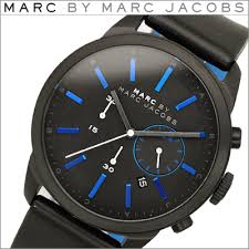 seika rakuten global market marc by marc jacobs mens watch marc by marc jacobs mens watch black blue leather dillon chronograph dillon chronograph