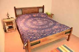 Reclaimed Wood Bed Iron , Bedroom Furniture